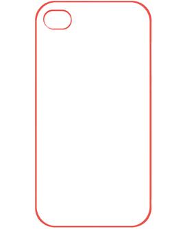 Θήκη iPhone 4 & 4s με Κόκκινη Επίστρωση Γόμας